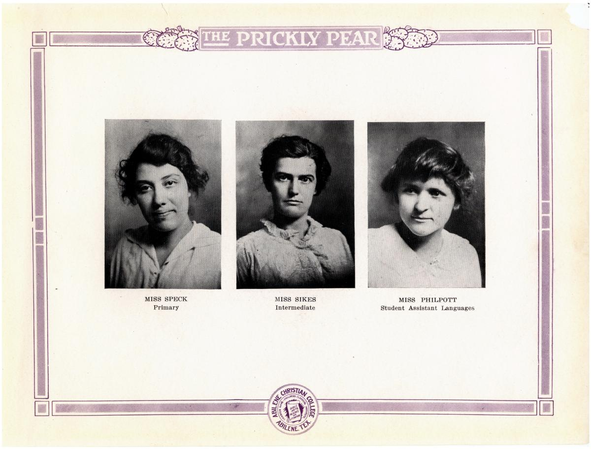 Prickly Pear, Yearbook of Abilene Christian College, 1916                                                                                                      12