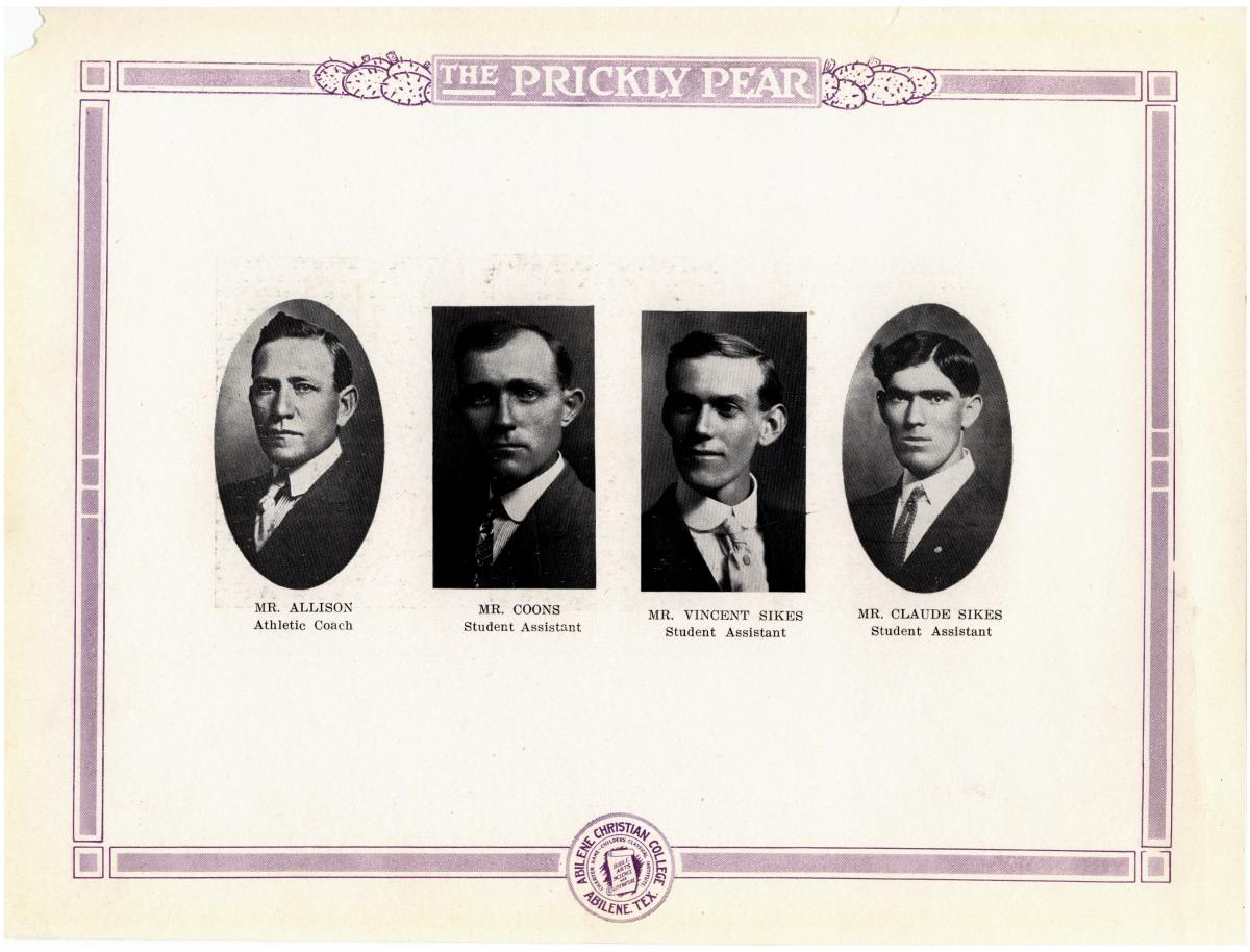 Prickly Pear, Yearbook of Abilene Christian College, 1916                                                                                                      13