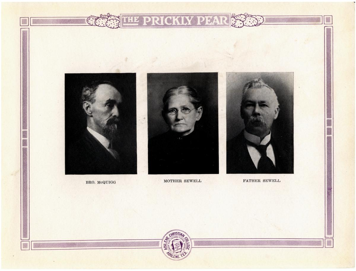 Prickly Pear, Yearbook of Abilene Christian College, 1916                                                                                                      14