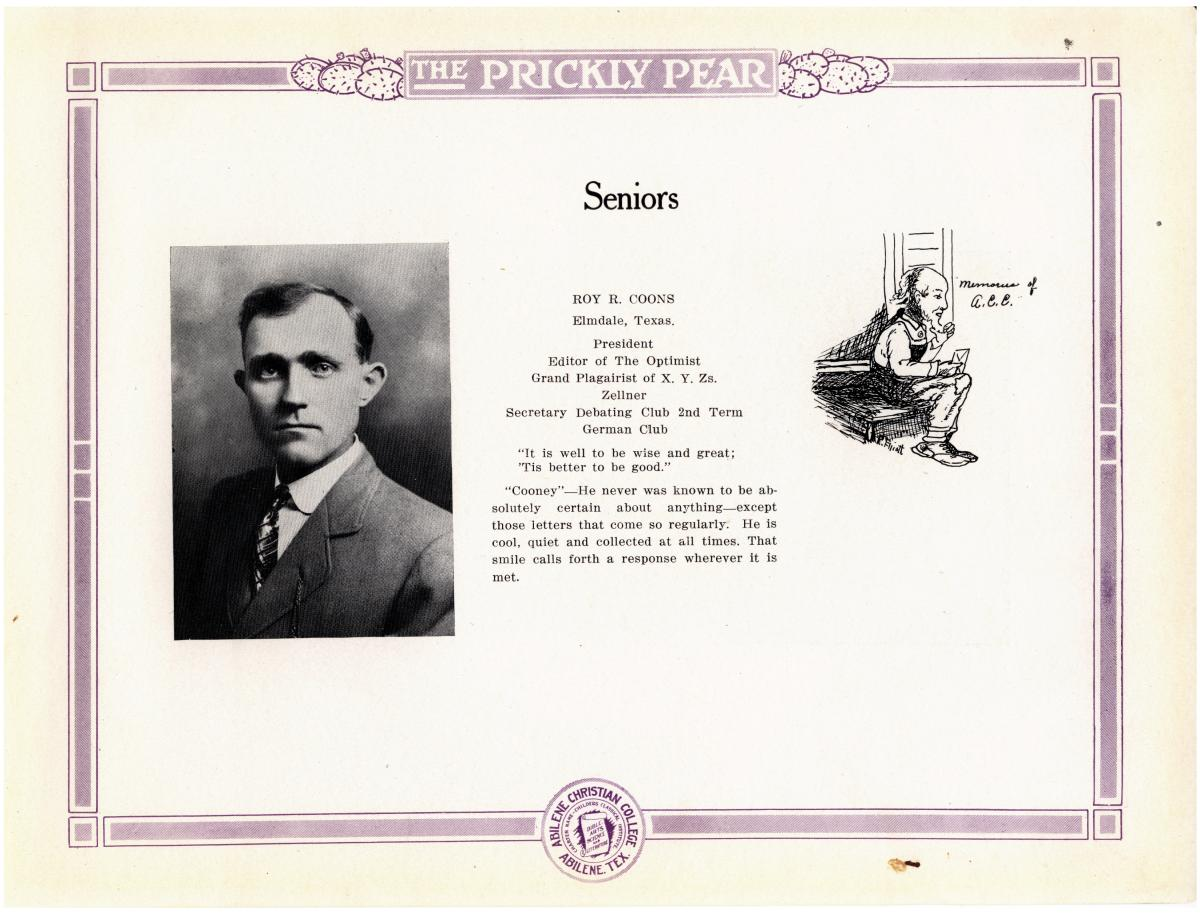 Prickly Pear, Yearbook of Abilene Christian College, 1916                                                                                                      16
