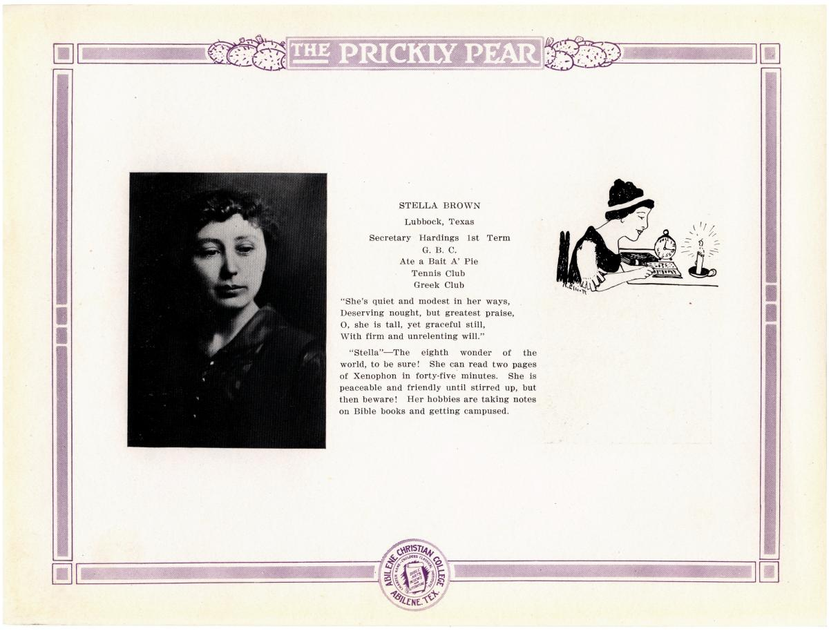 Prickly Pear, Yearbook of Abilene Christian College, 1916                                                                                                      19