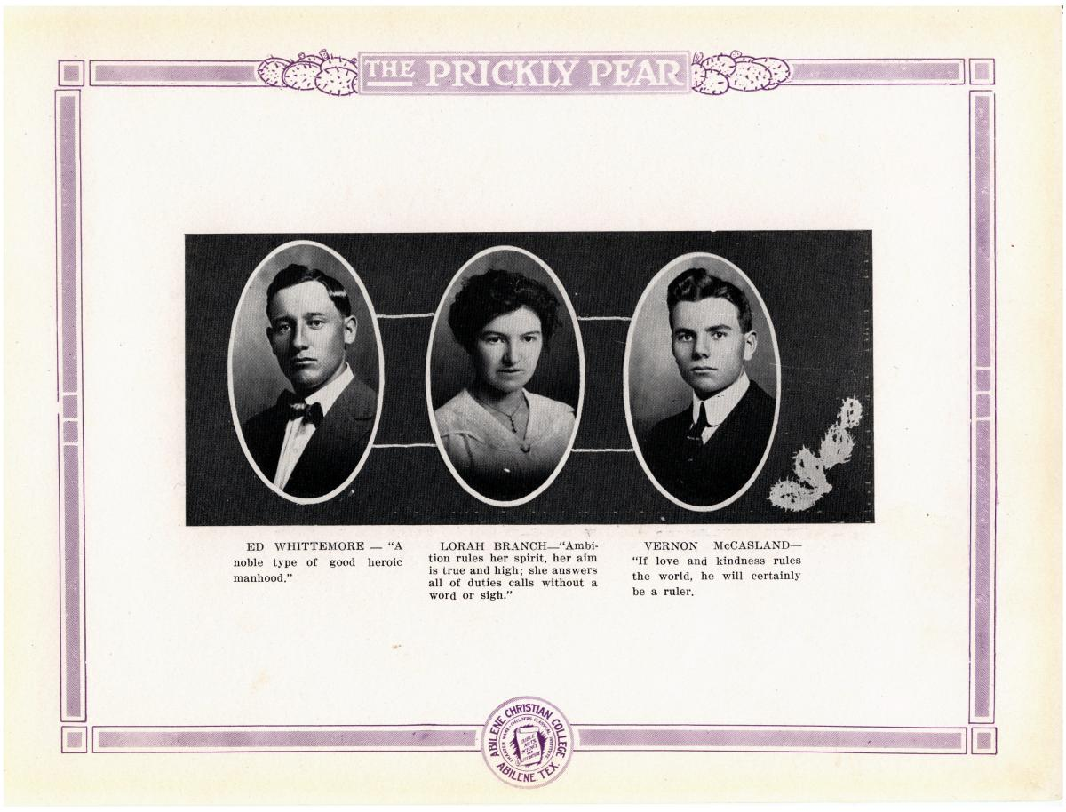 Prickly Pear, Yearbook of Abilene Christian College, 1916                                                                                                      26
