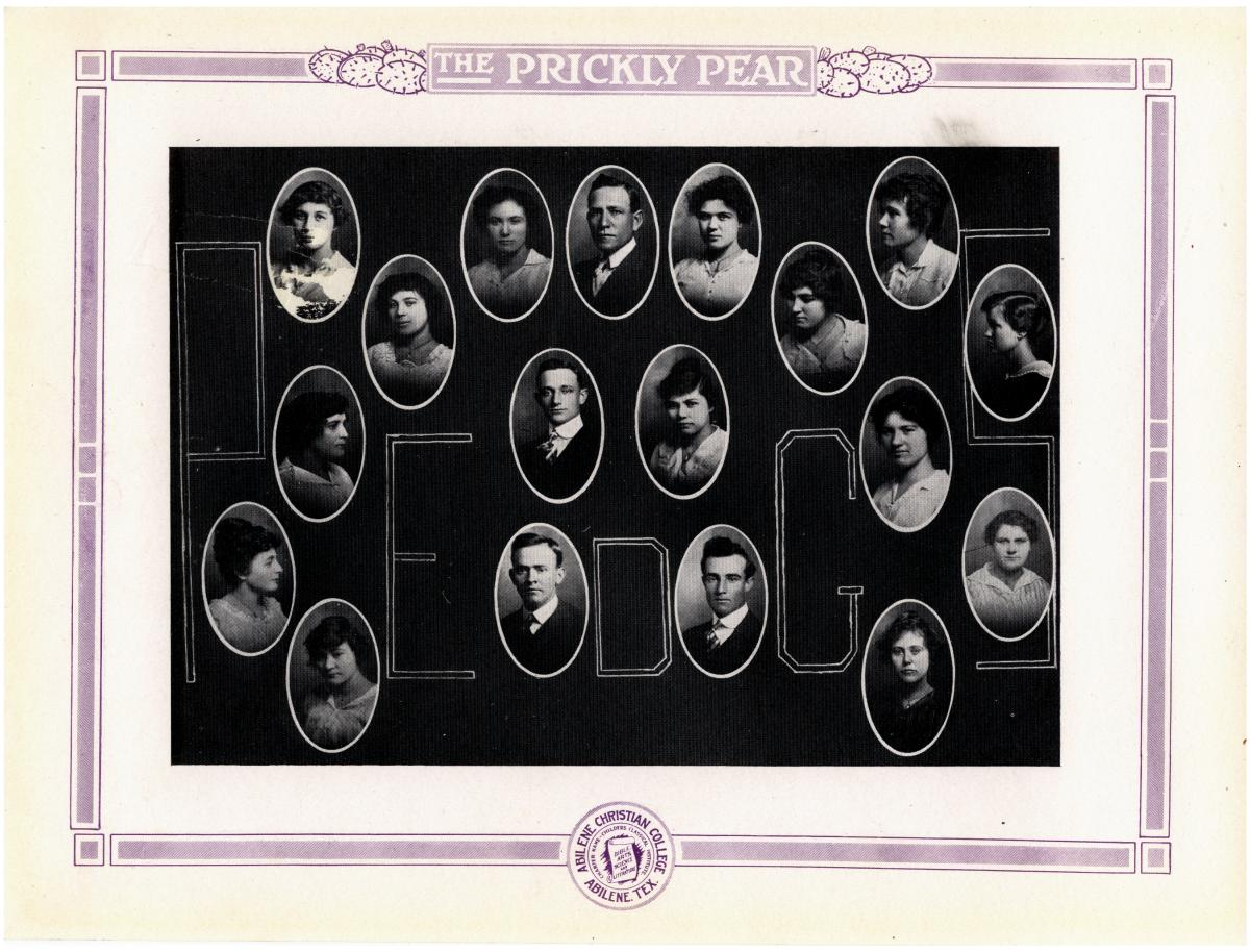 Prickly Pear, Yearbook of Abilene Christian College, 1916                                                                                                      33