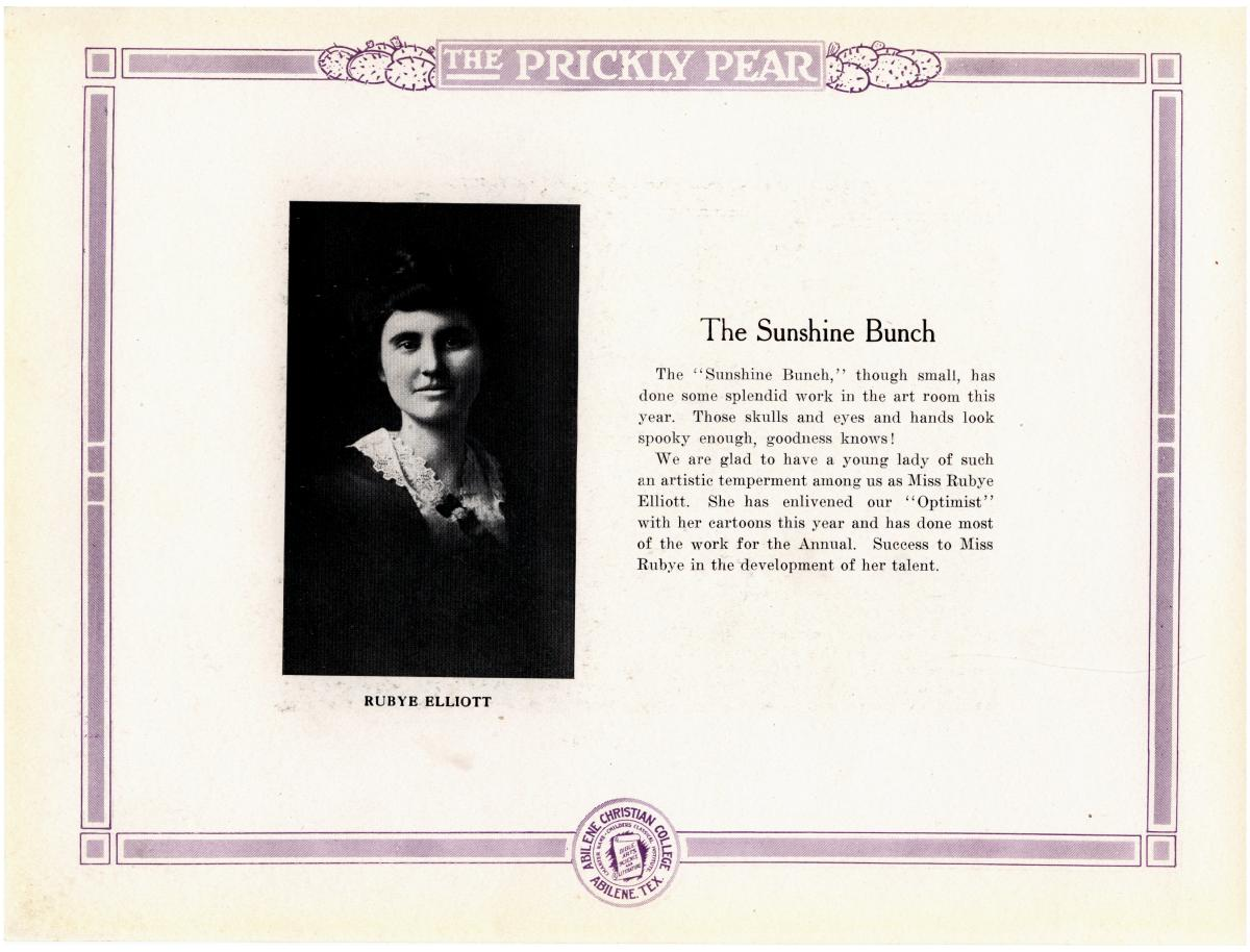 Prickly Pear, Yearbook of Abilene Christian College, 1916                                                                                                      35