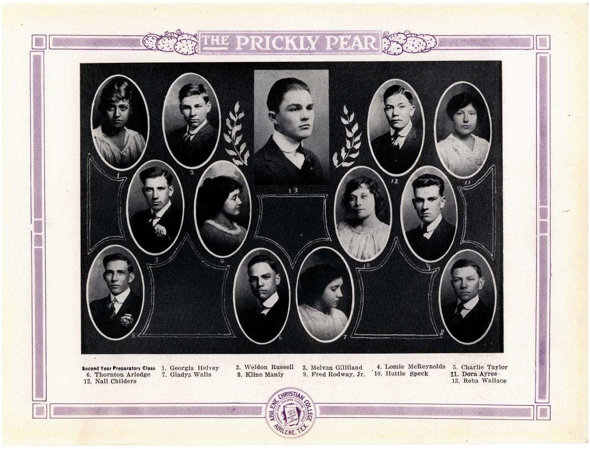 Prickly Pear, Yearbook of Abilene Christian College, 1916                                                                                                      42