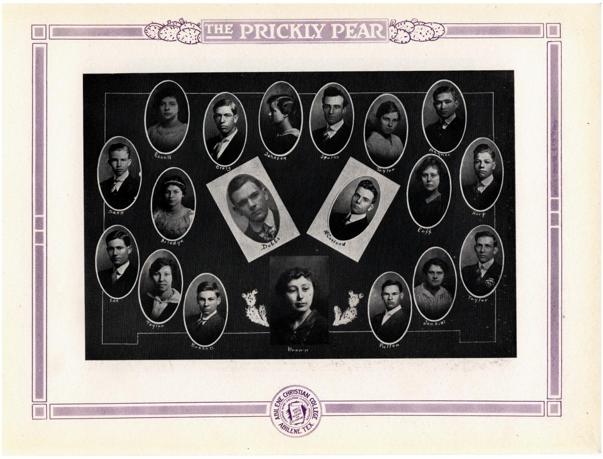 Prickly Pear, Yearbook of Abilene Christian College, 1916                                                                                                      48