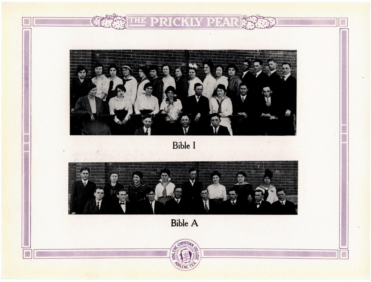 Prickly Pear, Yearbook of Abilene Christian College, 1916                                                                                                      65