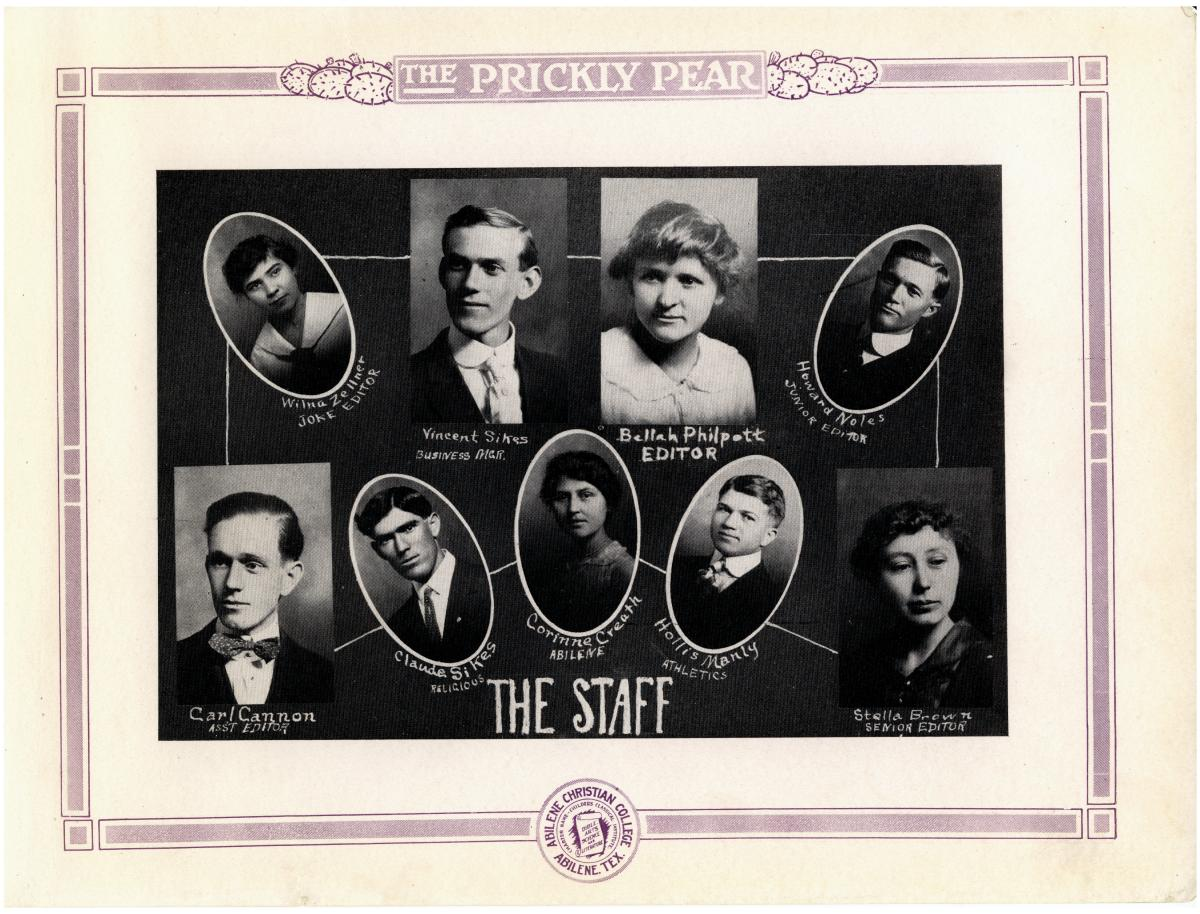 Prickly Pear, Yearbook of Abilene Christian College, 1916                                                                                                      7