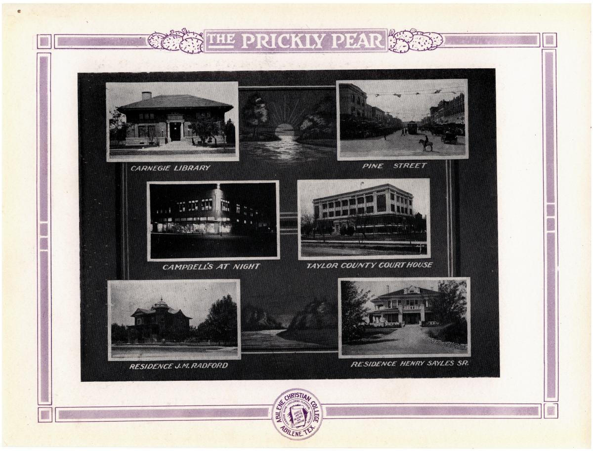 Prickly Pear, Yearbook of Abilene Christian College, 1916                                                                                                      75