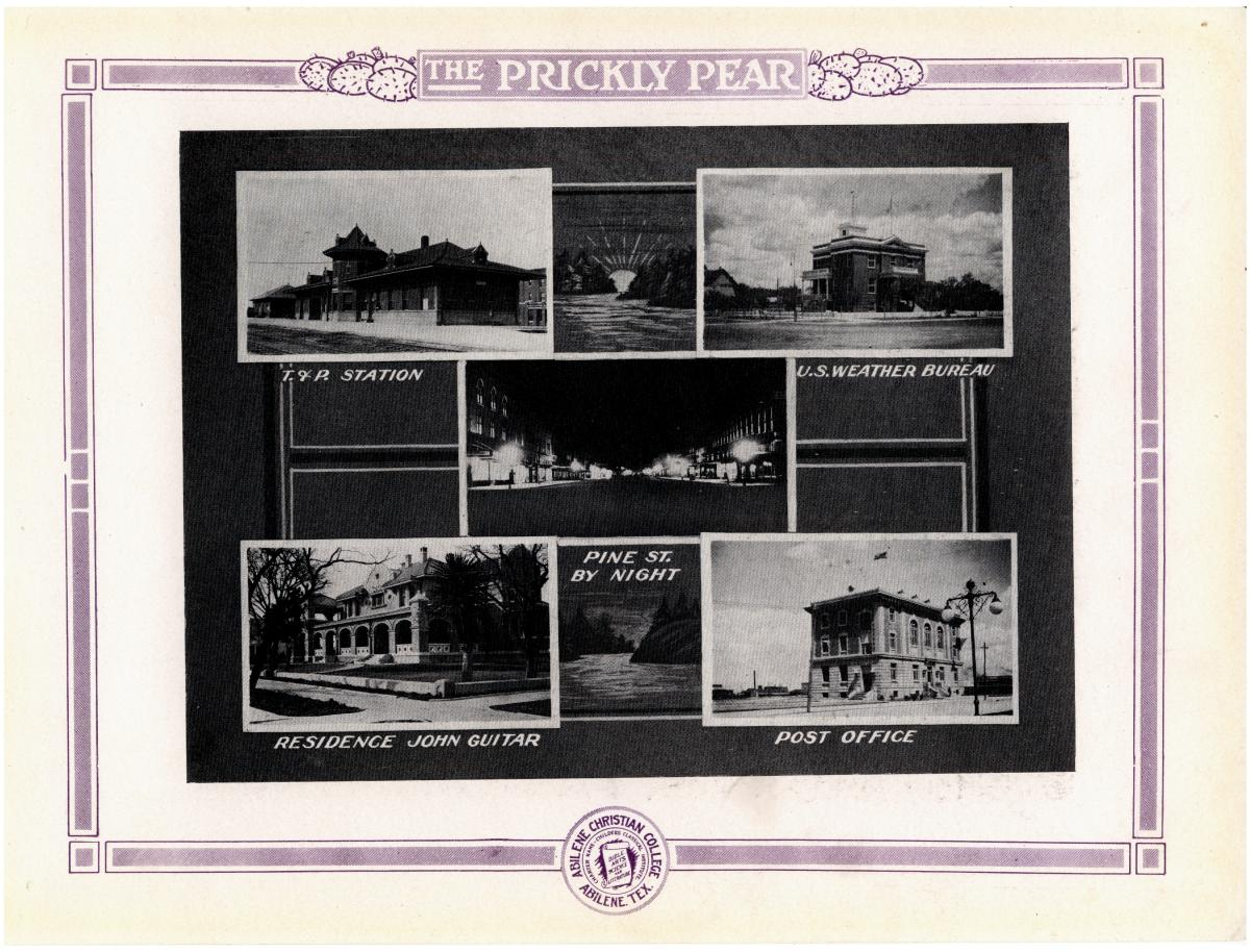 Prickly Pear, Yearbook of Abilene Christian College, 1916                                                                                                      76