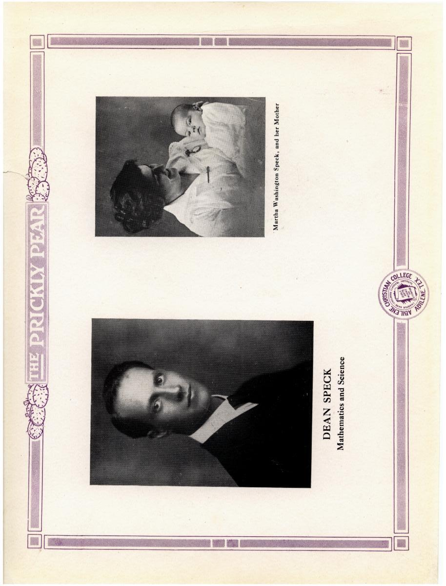 Prickly Pear, Yearbook of Abilene Christian College, 1916                                                                                                      8