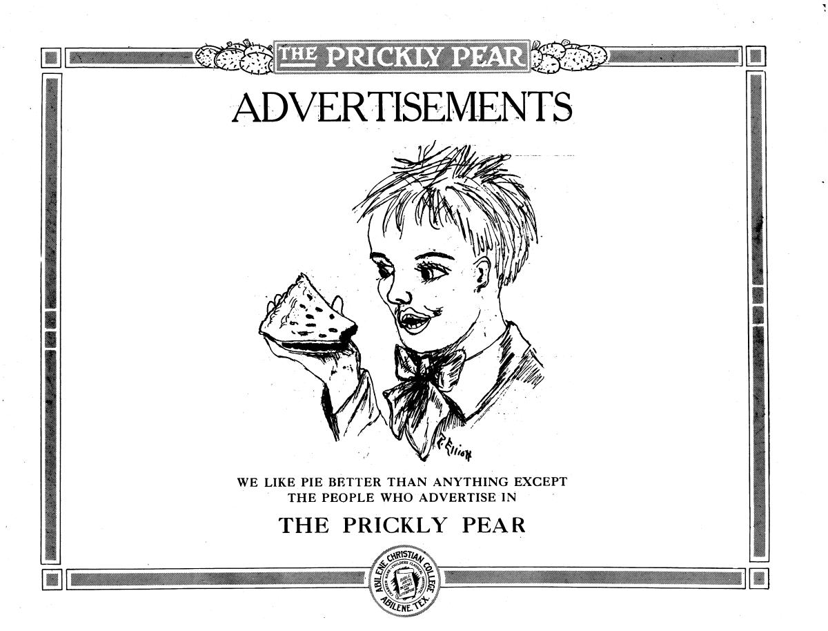Prickly Pear, Yearbook of Abilene Christian College, 1916                                                                                                      87