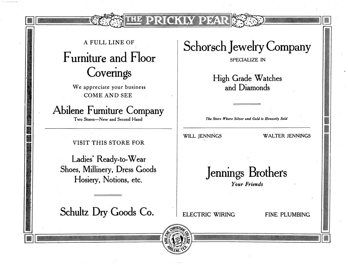 Prickly Pear, Yearbook of Abilene Christian College, 1916                                                                                                      95