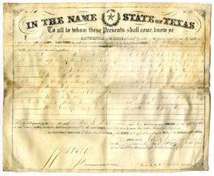 Land grant to Peter S. Benton, 1855