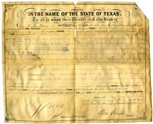 Land grant to Gabriel B. Knight, 1854