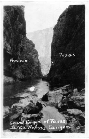 Primary view of object titled 'Photo Postcard of Santa Helena Canyon, Texas'.