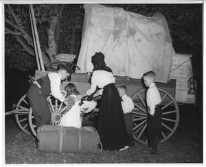 Primary view of object titled '[Family with a Wagon]'.