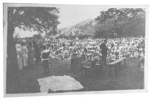 Primary view of object titled '[Spectators at the Bloys Campmeeting]'.