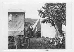 Primary view of object titled '[People Near a Tent]'.