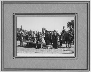 Primary view of object titled '[Cavalry at Bloys Campground]'.