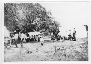 Primary view of object titled '[Groups of People at a Campground]'.