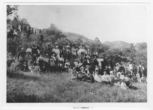 Primary view of object titled '[Group of People on a Hill]'.