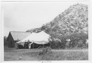 Primary view of object titled '[Tent Near a Hill]'.