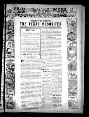 Primary view of object titled 'The Texas Mesquiter. (Mesquite, Tex.), Vol. 42, No. 5, Ed. 1 Friday, August 31, 1923'.