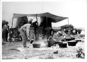 Primary view of object titled 'Camp Scene with Cooks'.