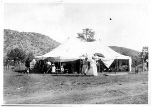 Primary view of object titled 'Gospel Tent at Bloys' Camp Grounds'.