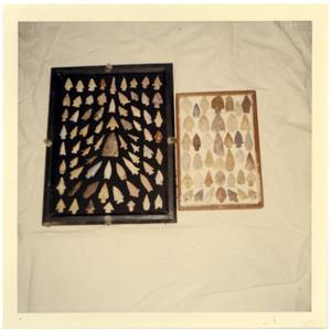 Primary view of object titled 'Indian Arrowheads found in Presidio County'.