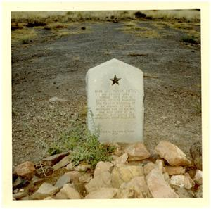 "Primary view of object titled 'Grave of Indian ""Emily""'."
