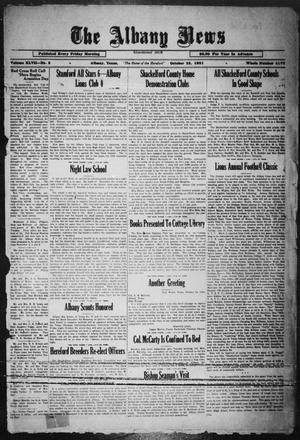 Primary view of object titled 'The Albany News (Albany, Tex.), Vol. 47, No. 3, Ed. 1 Friday, October 23, 1931'.