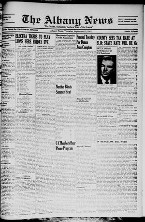 Primary view of object titled 'The Albany News (Albany, Tex.), Vol. 67, No. 51, Ed. 1 Thursday, September 13, 1951'.