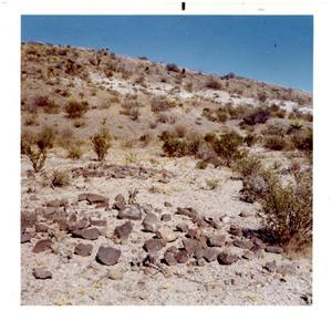 Primary view of object titled 'Burial Ground near Presidio, Texas'.
