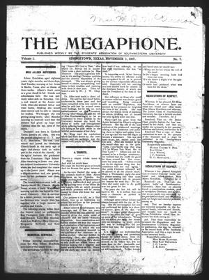 Primary view of object titled 'The Megaphone (Georgetown, Tex.), Vol. 1, No. 7, Ed. 1 Friday, November 1, 1907'.
