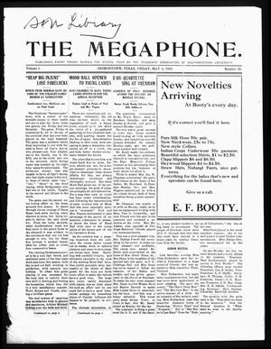 Primary view of object titled 'The Megaphone (Georgetown, Tex.), Vol. 3, No. 28, Ed. 1 Friday, May 6, 1910'.