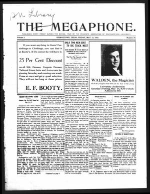 Primary view of object titled 'The Megaphone (Georgetown, Tex.), Vol. 3, No. 29, Ed. 1 Friday, May 13, 1910'.