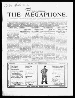 Primary view of object titled 'The Megaphone (Georgetown, Tex.), Vol. 3, No. 7, Ed. 1 Friday, November 19, 1909'.
