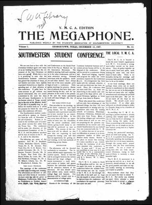 Primary view of object titled 'The Megaphone (Georgetown, Tex.), Vol. 1, No. 13, Ed. 1 Friday, December 13, 1907'.