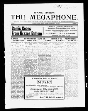 Primary view of object titled 'The Megaphone (Georgetown, Tex.), Vol. 3, No. 17, Ed. 1 Friday, February 11, 1910'.