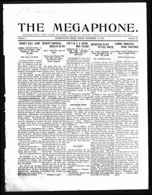 Primary view of object titled 'The Megaphone (Georgetown, Tex.), Vol. 3, No. 10, Ed. 1 Friday, December 10, 1909'.