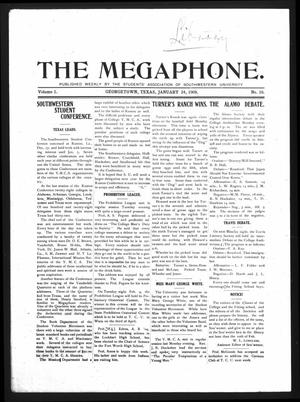 Primary view of object titled 'The Megaphone (Georgetown, Tex.), Vol. 1, No. 16, Ed. 1 Friday, January 24, 1908'.