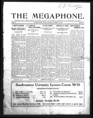 Primary view of object titled 'The Megaphone (Georgetown, Tex.), Vol. 3, No. 2, Ed. 1 Friday, October 15, 1909'.