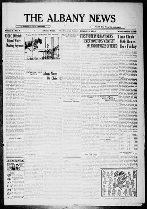 Primary view of object titled 'The Albany News (Albany, Tex.), Vol. 50, No. 3, Ed. 1 Thursday, October 18, 1934'.