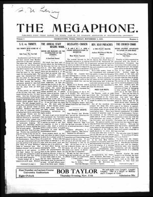 Primary view of object titled 'The Megaphone (Georgetown, Tex.), Vol. 3, No. 5, Ed. 1 Friday, November 5, 1909'.