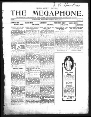 Primary view of object titled 'The Megaphone (Georgetown, Tex.), Vol. 2, No. 18, Ed. 1 Friday, February 19, 1909'.