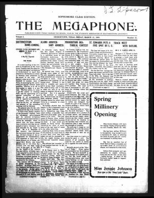 Primary view of object titled 'The Megaphone (Georgetown, Tex.), Vol. 2, No. 21, Ed. 1 Friday, March 12, 1909'.