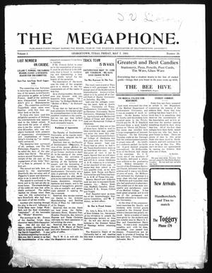 Primary view of object titled 'The Megaphone (Georgetown, Tex.), Vol. 2, No. 28, Ed. 1 Friday, May 7, 1909'.