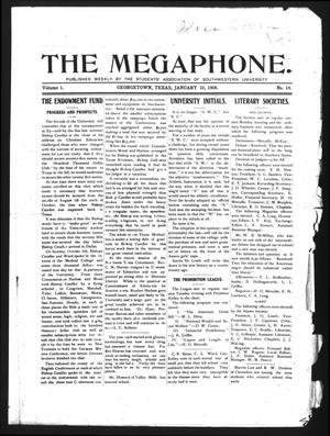Primary view of object titled 'The Megaphone (Georgetown, Tex.), Vol. 1, No. 14, Ed. 1 Friday, January 10, 1908'.
